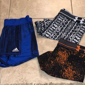 3 for $25 Adidas & Under Armour Workout Spanks